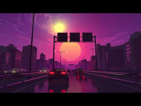 '80s Driving Ambience – Chasing Sunset (White Noise, ASMR, Relaxation)