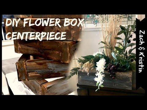 DIY Flower Box Centerpiece + Family Vlog