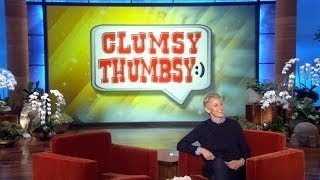 Clumsy Thumbsy: Training Dongs on Ellen show