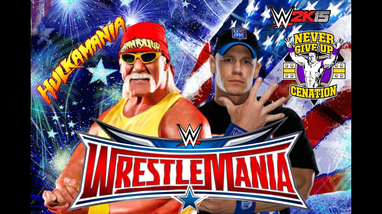 WWE Wrestlemania 32: John Cena vs Hulk Hogan - YouTube