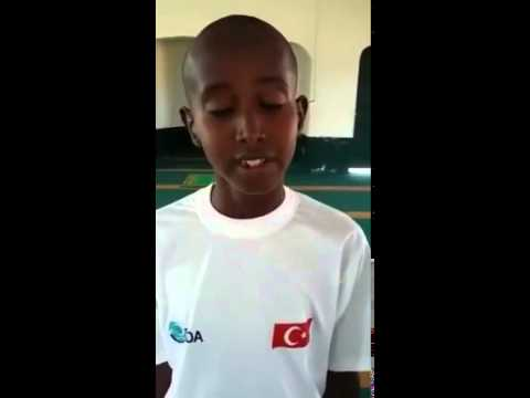 Quran Recitation. Very Nice, by a young African. somali child Abduqadir