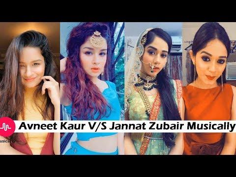Jannat Zubair V/S Avneet Kaur Musically on Same Songs