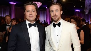 Brad Pitt Looked Like He Was IRL Benjamin Button-ing at the Golden Globes