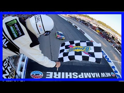 Breaking News   Kyle busch wins stage 2 of new hampshire playoff race after multi-car wreck on last