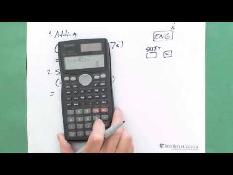 Scientific Calculator Complex Numbers Operations 1 Youtube