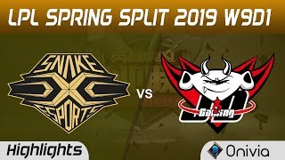SS vs JDG Highlights Game 3 LPL Spring 2019 W9D1 Snake vs JD Gaming LPL Highlights by Onivia