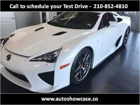 2012 lexus lfa used cars san antonio tx youtube for Showcase motors san antonio