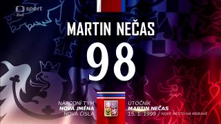 Martin Nečas - Nová jména a čísla v národním týmu
