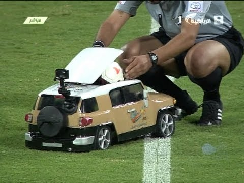 electronic way to deliver the ball to the referee in jeddah's derby