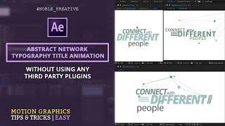 Flachen Netzwerk-Titel-Animation in AE | Kein Plugin Erforderlich