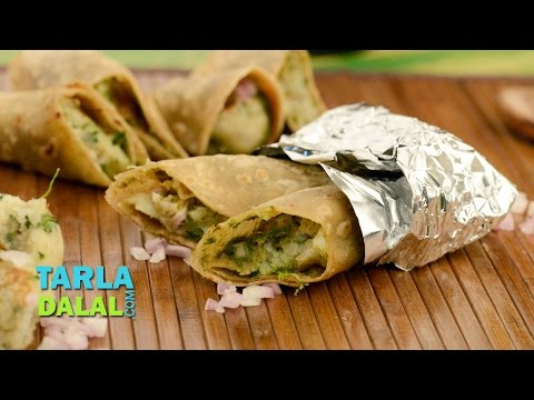 Jhatpat Aloo Roll, Chatpata Potato Roll Recipe  by Tarla Dalal