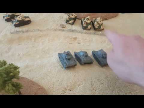 Flames of war battle report v4. Desert rats vs africa korps