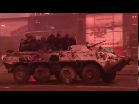 Kiev: tank on fire (molotov)