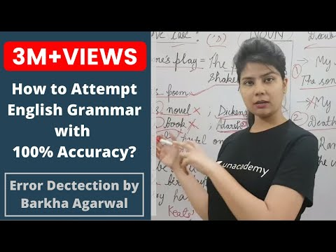 How to attempt ENGLISH GRAMMAR with 100% Accuracy By Barkha Agrawal
