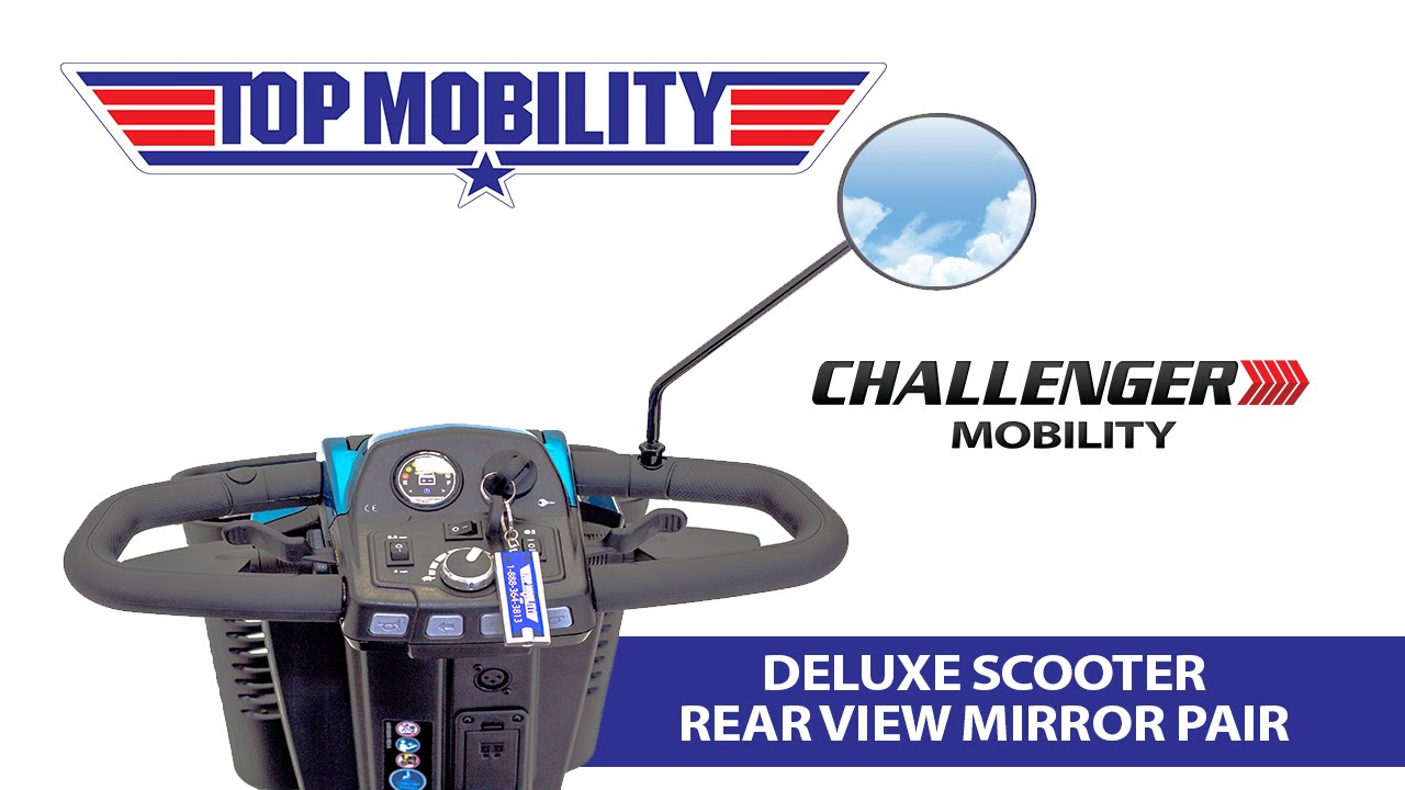 Pride Mobility Scooter >> Challenger Mobility Deluxe Scooter Rear View Mirrors J400 Delta Tiller Pride, Golden, Drive ...