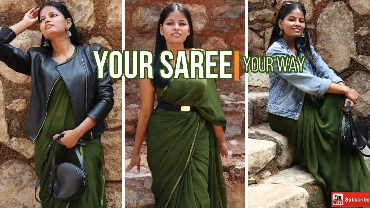 [VIDEO] - Wear saree with indo western fusion ...LOOKBOOK 2019. You will never say no to saree. 1