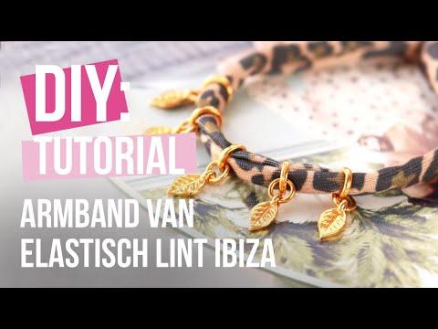 DIY tutorial - Sieraden maken met stitched elastisch lint leopard ♡ DIY