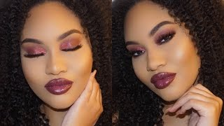 BOLD WINTER MAKEUP LOOK For A Night Out | Naptural Elenore