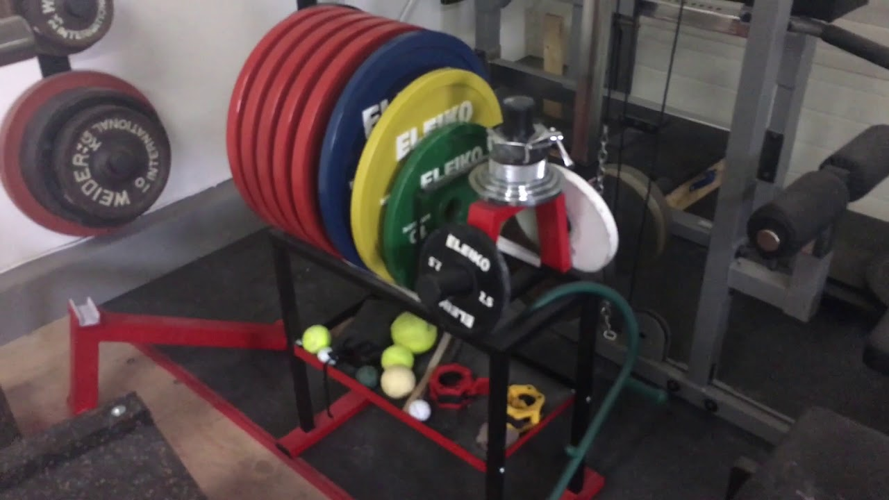Worlds best home gym for me & how to level a garage floor. youtube