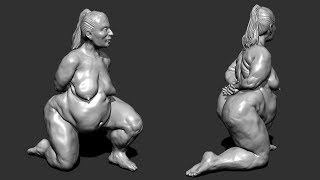 zbrush sculpting from live modele #14