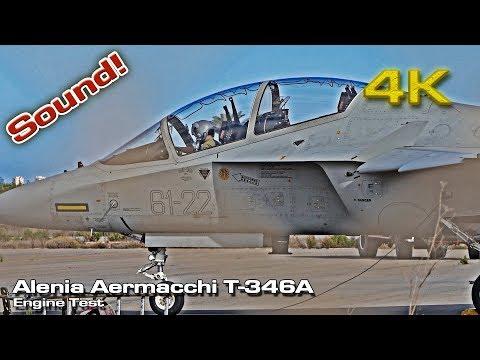 Alenia Aermacchi [4K] T-346A Engine Test (Sound!)