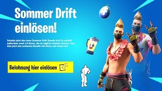Get new Beach Bomber Skin for free! (14 days summer event German) Fortnite Battle Royale