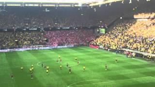 Atmosphere after goal Aubameyang! | Borussia Dortmund 2-0 FC Bayern Munich | Supercup 2014