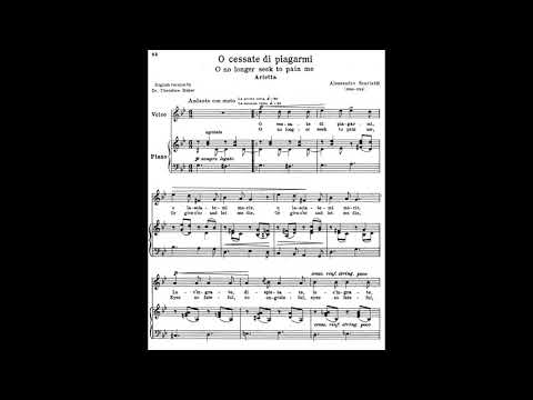 21 O cessate di piagarmi 24 Italian Songs and Arias piano melody and accompaniment