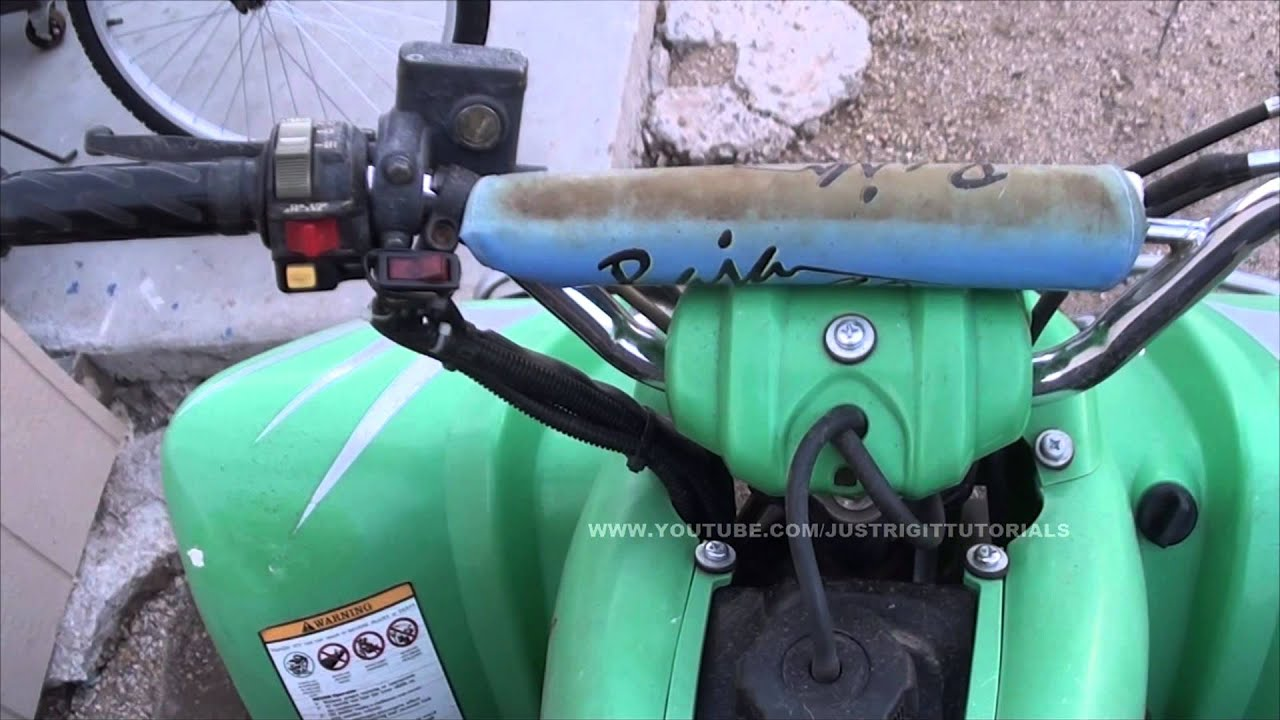 Yamaha Atv Solenoid Wiring Diagram Razor E100 Electric Scooter Bypassing The Push Button Starter On An - Youtube
