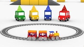 Lehrreicher Zeichentrickfilm - Die 4 kleinen Autos - Wir feiern Geburtstag