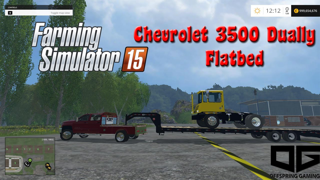 FS 2015 Mods- Custom Offspring Gaming Chevy 3500 Flatbed ...