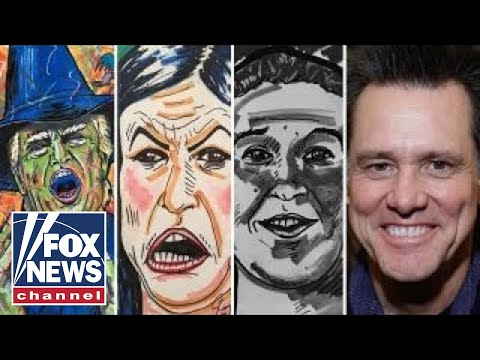 Jim Carrey under fire for controversial paintings of Trump and others