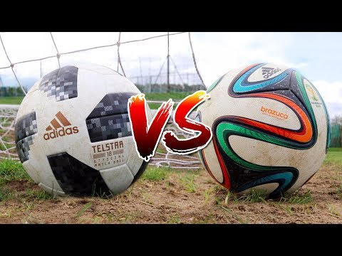 TELSTAR 18 VS BRAZUCA TEST | 2018 WORLD CUP BALL VS 2014 WORLD CUP BALL