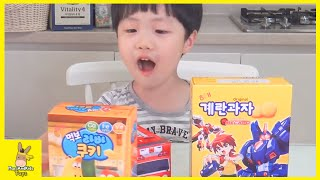 The Little Bus Tayo, Larva and Turning Mecard Cookies MUKBANG - Asian Cookies | MariAndKids Toys