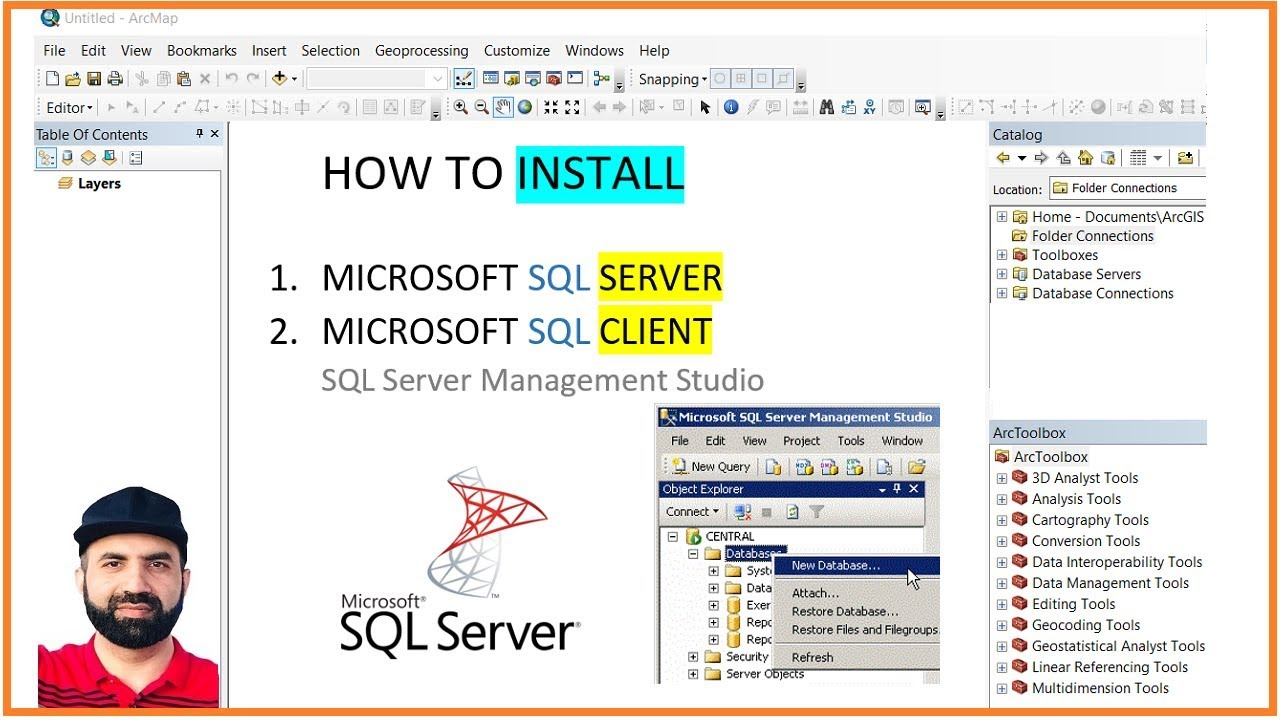 Enterprise Geodatabase, Microsoft SQL Server, download and install easily