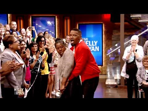 Jamie Foxx Gets Down With Frisky Audience Member (Hilarious) Kelly & Ryan