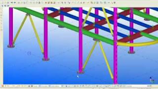 High rise building STEEL TEKLA STRUCTURE.avi
