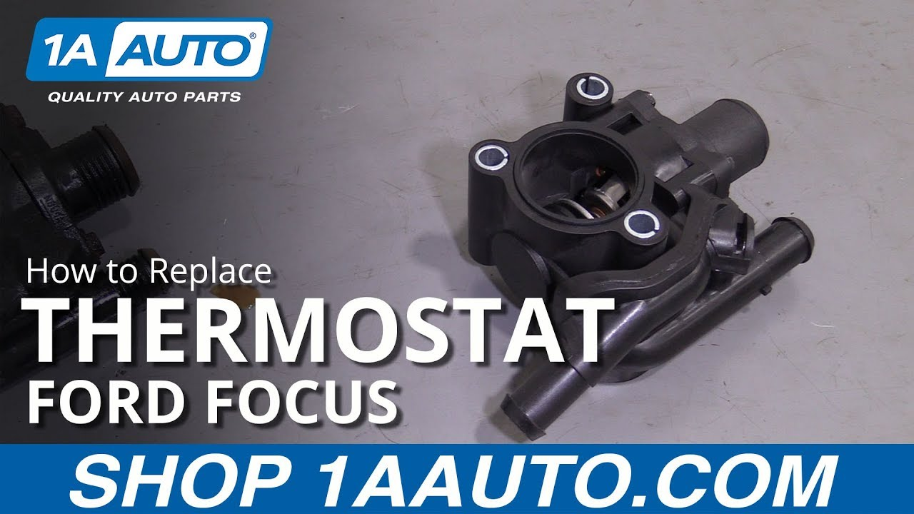 How To Replace Thermostat 00 04 Ford Focus Youtube