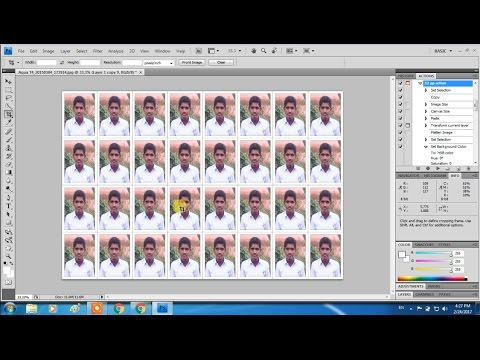 how to make a photo passport size in photoshop