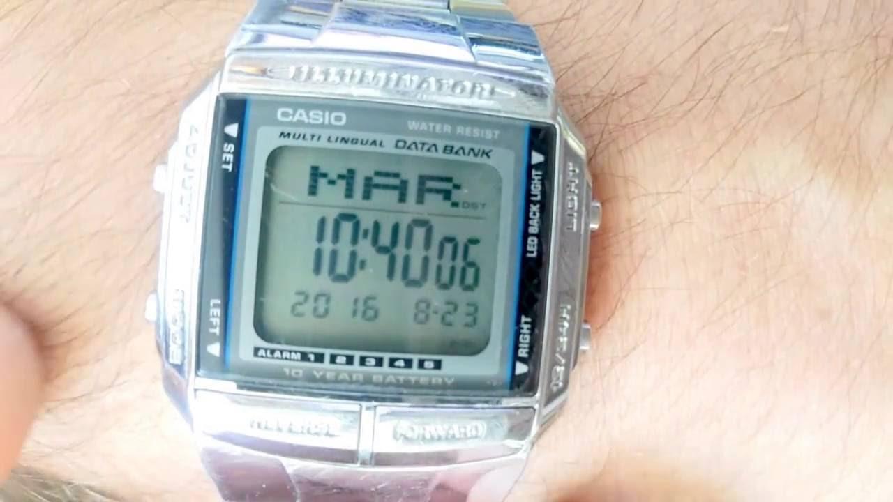 5dc422dbefcb Activar   Desactivar sonido horario Casio DB36 - YouTube