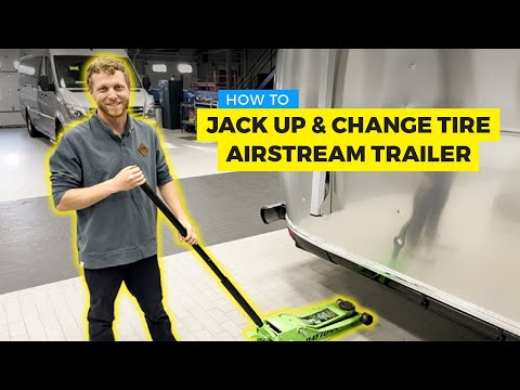 How To Properly Jack Up Your Airstream Trailer and Change A Tire!