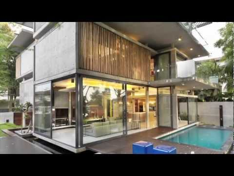Sustainable design in this Kuala Lumpur house with climate control solar chimney & bamboo sunscreens