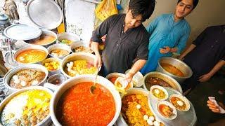 Street Food in Peshawar - SUPERHUMAN Curry + 100 Egg BIGGEST Chapli Kebabs + Pakistani Street Food!