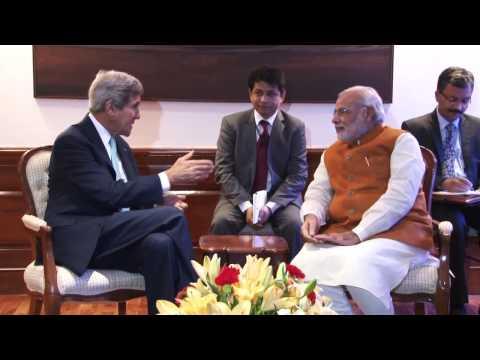 Visuals: PM Narendra Modi's meeting with John Kerry