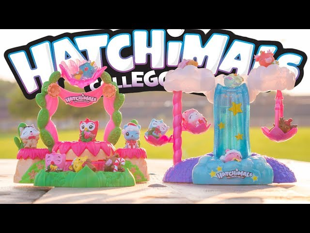 Singing And Playing! | Hatchimals Talent Show Playset And Hatchimals Waterfall Playset