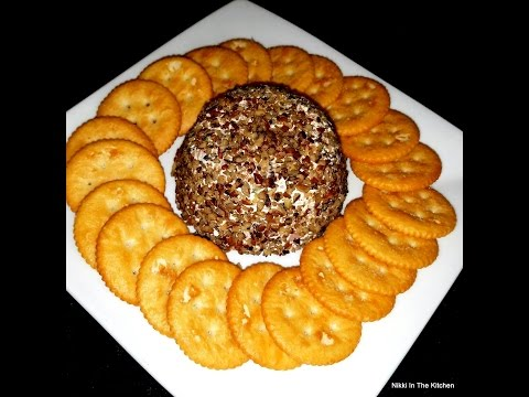 Philadelphia Cream Cheese Ball With Ham, Bacon And Pecans. Appetizers