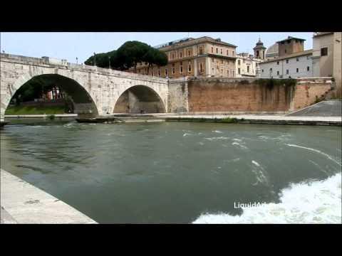 Tiber River low head dam