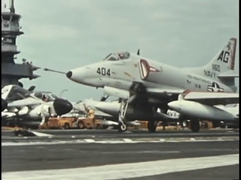 U.S. Navy Aircraft Carriers Operating Off Vietnam