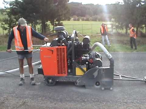 Microtrenching Trial 1 Sharp Concrete Cutters And