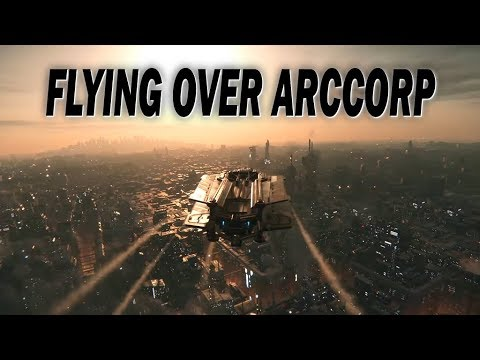 STAR CITIZEN: Flying Over Arccorp - Just the Visuals Set to Music